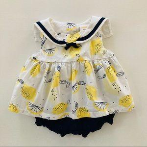 Gymboree Baby Girl Lemons Romper Dress Spring